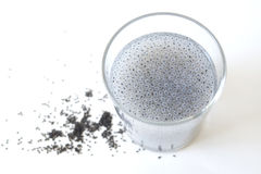 Basil Seed Drink Royalty Free Stock Photography