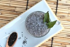 Basil seeds for fiber beverage and raw seed Royalty Free Stock Photos