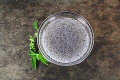 Basil seeds soak in water. Herb in Thai Royalty Free Stock Photos