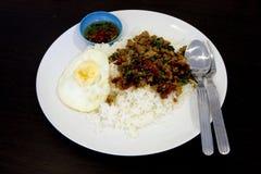 basil smażący ryż Zdjęcia Stock