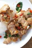 basil smażący ryż Fotografia Stock