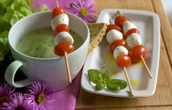 Basil soup Stock Image