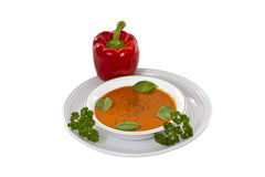 Basil Tomato Soup Royalty Free Stock Image