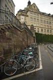 Basilea - parcheggio della bicicletta fotografia stock