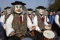 Basilea (Suiza) - carnaval 2014 Fotos de archivo libres de regalías