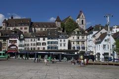 Basilea, Svizzera, Barfuesserplatz Fotografia Stock