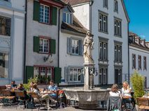Basilea, svizzera - 30 maggio 2019 fotografie stock libere da diritti