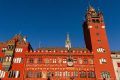 Basileia, Suíça - câmara municipal de Rathaus em Marktplatz Fotografia de Stock Royalty Free