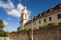 Basilian的父亲的修道院在布恰奇,乌克兰 免版税图库摄影