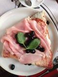 Basilic de café de pizza de voyage de l'Italie photos stock
