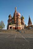 Basilic de rue de cathédrale à Moscou, Russie photographie stock libre de droits
