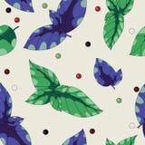Basilic doux et mélange des poivrons Image libre de droits