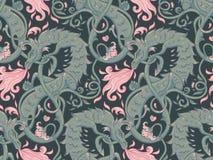 Basilic magique mythologique de bête, créature bizarre légendaire S illustration de vecteur