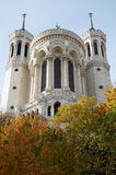 Basilica. Of Fourviere, Lyon, France royalty free stock photography