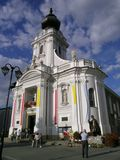 Basilica. NMP in Wadowice (Poland royalty free stock images