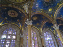 Basilica of the Agony. JERUSALEM, ISRAEL - JULY 13, 2015: The mosaic ceiling in The Church of All Nations (Basilica of the Agony) designed by Pietro D'Achiardi ( royalty free stock photos