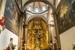 Basilica Altar San Francisco Church Mexico City Mexico stock image