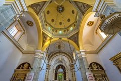 Basilica Altar Dome Temple Convent Carmen Alto Church Oaxaca Mexico. Altar Dome Temple Convent Carmen Alto Church Oaxaca Juarez Mexico. Started n the 1500s royalty free stock photo