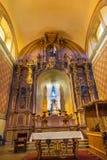 Basilica Altar Mary Statue Templo de la Compania Church Oaxaca Mexico. Built around 1596 near Zocalo stock image