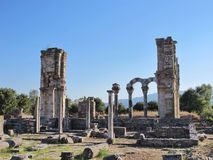 Basilica in the ancient city of Philippi Royalty Free Stock Images