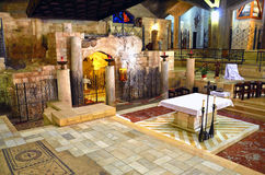 Basilica of the Annunciation. In Nazareth Stock Photos