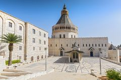 Basilica of the Annunciation in the city of Nazareth in Galilee northern Israel. royalty free stock photography