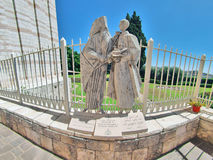 Basilica of the Annunciation in Nazareth Stock Photos