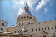 Basilica of the Annunciation, a Roman Catholic church in Nazaret Stock Image