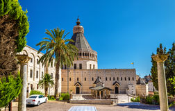 Basilica of the Annunciation, a Roman Catholic church in Nazareth. Israel Stock Photography