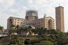 Basilica of Aparecida. The monumental basilica of Aparecida under reformation in Sao Paulo, Brazil Royalty Free Stock Photos
