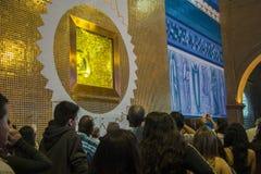 Basilica of Aparecida. Place in the Basilica of the National Shrine of Our Lady of Aparecida where the statue of the Virgin Mary stays - Aparecida, Brazil Stock Photos