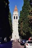 Basilica in Aquileia, Italy stock photography