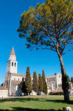 Basilica of Aquileia and tree Royalty Free Stock Images