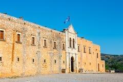 Basilica of Arkadi Monastery on Crete. Island, Greece Royalty Free Stock Image