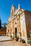 Basilica of Arkadi Monastery on Crete, Greece. Basilica of Arkadi Monastery on Crete Island, Greece Royalty Free Stock Photo