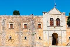 Basilica of Arkadi Monastery on Crete, Greece. Basilica of Arkadi Monastery on Crete Island, Greece Royalty Free Stock Photos