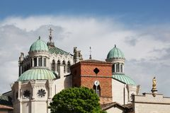 Basilica of Ars sur Formans Stock Images