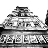 Basilica. Artistic look in black and white. Royalty Free Stock Photo