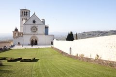 Basilica of Assisi stock photo