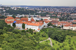Basilica of the Assumption of Our Lady. View from Petrin Lookout Tower Stock Images