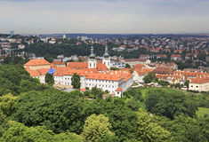 Basilica of the Assumption of Our Lady. View from Petrin Lookout Tower Stock Image