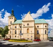 Basilica of the Assumption in Rzeszow. Basilica of the Assumption of the Blessed Virgin Mary in Rzeszow, Poland Stock Photo