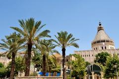Basilica av annunciationen i Nazareth Royaltyfri Bild