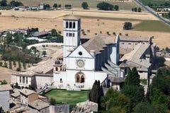 Basilica av den San Francesco d'Assisien Arkivbilder
