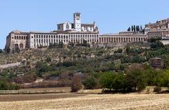 Basilica av den San Francesco d'Assisien Royaltyfri Fotografi