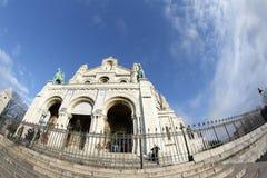 Basilica av Sacre Coeur, Paris Arkivbild