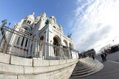 Basilica av Sacre Coeur, Paris Arkivbilder
