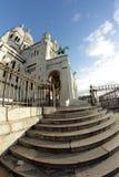 Basilica av Sacre Coeur, Paris Arkivfoto