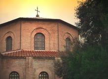 Basilica av San Vitale i Ravenna arkivbilder