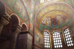 Basilica av San Vitale i Ravenna royaltyfria foton